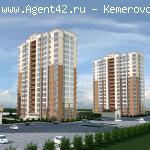 1-к квартира (студия) 23,7 кв.м. в ЖК Сибирские Просторы