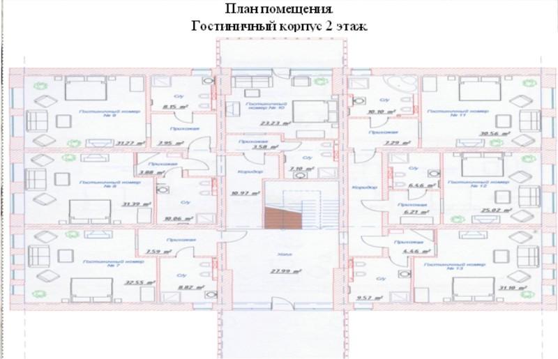 Схема гостиничного комплекса